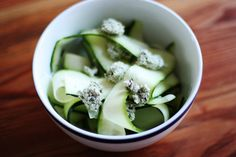 Raw foods how to: zucchini tagliatelle