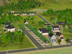 Mod The Sims - Middleground -- Neighbourhood with lots; base game compatible