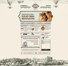 Vintage-style web design