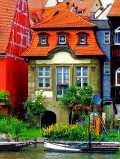 Colorful Buildings in Bamberg, Bavaria, Germany