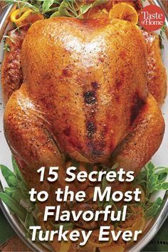 15 Secrets to the Most Flavorful Turkey Ever This Thanksgiving, make your turkey. - 15 Secrets to the Most Flavorful Turkey Ever This Thanksgiving, make your turkey more flavorful tha - Slow Cooking, Cooking Turkey, Turkey Baking Times, How To Cook Turkey, Cook Turkey In Oven, Cooking Pasta, Turkey Roasting Times, Turkey In Roaster Oven, Cooking Tips