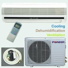 Pioneer Ductless Mini Split Air Conditioner 18000 Btu 1 5 Ton 13 Seer Cooling Dehumidification Ventilation No Heat Including 10 Foot Installation
