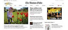 Boston Globe   Web Typography