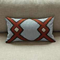 Ikat Diamond Pillow Cover. Another maybe.