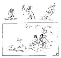 The Musketeers - Sketch fan art, Aramis vs Fish