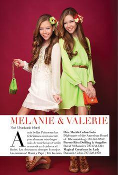 Melanie & Valerie: Ganadoras del premio Fotogénica Infantil Spring/Summer 2014