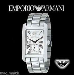 EMPORIO ARMANI Herren Uhr AR0145 Armbanduhr Klassik ORIGINAL NEU