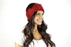 Crochet Bow Turban head wrap, boho headwrap, bohemian headband