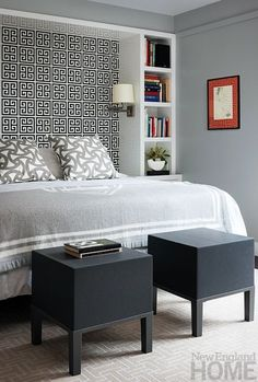 I Like The Bookshelf Idea To Frame The Bed To Make An Inlaid Headboard With  Wall · Bed Shelf DIY ...