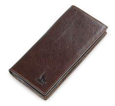 Top Quality Hot Sale Fashion JMD Genuine Leather Money Pocket  Long Mens Wallet 8011-1Q #Affiliate