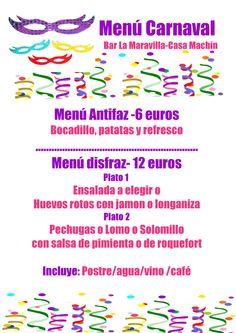 Menú Carnaval 2015