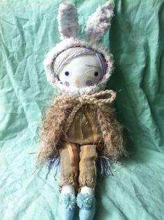 Pixie folk art doll winter by Lindaloudoll on Etsy