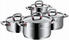 Find cooking pot, casserole and cookware sets at the WMF online offer. Kitchen Tools, Kitchen Gadgets, Kitchen Appliances, Easy Jobs, Wmf, Herd, Cookware Set, At Home Store, Pots
