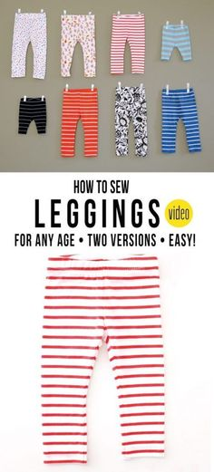 How to Sew Leggings for Any Age! This is a great tutorial and a great way to make matching leggings for you and your mini!!