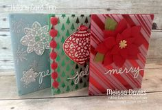 Stampin' Up! Fancy Foil Holiday Card Kit by Melissa Davies @rubberfunatics #rubberfunatics #stampin'up