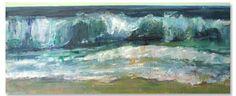 "Robert Spooner | ""Incoming Wave"" I Oil, 24 x 48"""