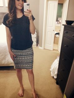 great look for work because when wearing skirts, I prefer my tops to not be tucked in and be more fitted.