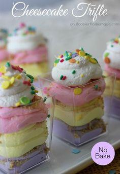 Cheesecake Trifle   Easter Dessert   Recipe on HoosierHomemade.com