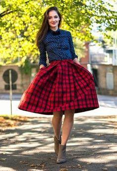 FASHION WINTER RECIPE ( 1^ parte )  tartan skirt www.theshadeoffashion.blogspot.it