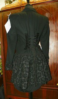 Wool Velvet and Flocked Taffeta Peplum Jacket
