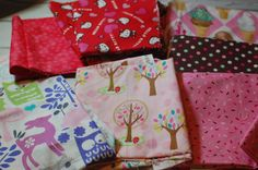 FABRIC DESTASH Girly Scrap Pack by LittleFreeRadical on Etsy, $15.00