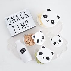 Size: 13 x x 13 cm, x x cm, 10 x 5 x 10 cm, x x cm Material: BPA free PP plastic Contains 4 containers Dishwasher safe (top rack) but hand-washing recommended. A Little Lovely Company, Snack Box, Nutrition, Panda, Snacks, Instagram, Products, Healthy Diet Foods, Appetizers