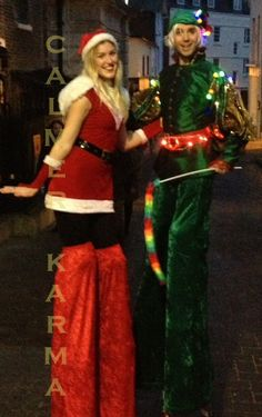 Christmas Party Entertainment  FOR SHOPPING CENTRES STILTS  http://www.calmerkarma.org.uk/CHRISTMAS-ENTERTAINMENT-FAMILY-EVENTS.html Perfect for shopping centres and open air Christmas celebrations. Hire across the UK inc MANCHESTER, LONDON, Cheshire, BIRMINGHAM, CARDIFF, Bristol
