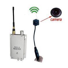 Podofo Wireless Security Camera with Receiver Spy Pinhole Micro Cam Complete Surveillance System CCTV Camera Surveillance Equipment, Security Surveillance, Surveillance System, Wireless Security Cameras, Wireless Camera, Spy Camera, Video Camera, Nanny Cam, Av Receiver