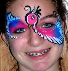 awesome bird face painting