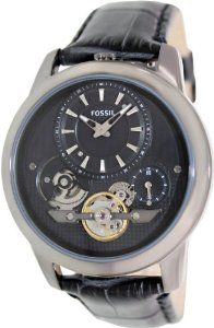 Fossil Grant Twist Leather Watch - Grey Me1126 49% #Discount(06/07/2014)