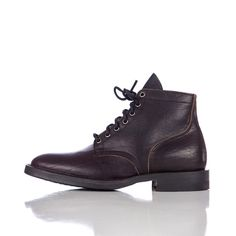 Viberg Service Boot in Black Pit Tanned Bison Side View