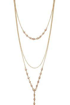 Rhinestone Layered Necklace | Forever 21