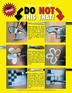 Paintertainment: Do THIS, Not THAT: How to Achieve Speed AND Detail in Cheek Art… – Hobbies paining body for kids and adult Face Paint Set, Face Painting Tips, Face Painting Tutorials, Face Painting Designs, Painting For Kids, Paint Designs, Face Paintings, Body Paint, How To Face Paint