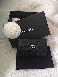 Chanel quilted card holder