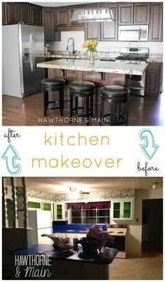 Can you even tell its the same kitchen! This space went though a total overhaul! Love the end result!!