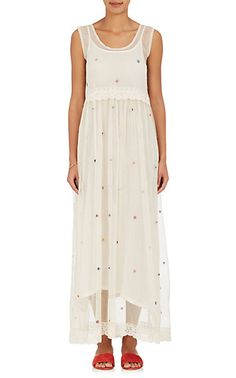Pero Embellished Cotton Tulle Maxi Dress - Dresses - 505015873
