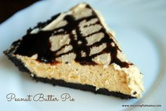 Peanut Butter Pie - It's easy. You only bake the crust. meaningfulmama.com