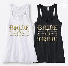 Bride Tribe Tank Bachelorette Party Tank Top Bridal by BridalRave
