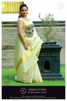 Onam Saree, Kasavu Saree, Kerala Traditional Saree, Traditional Dresses, Set Saree, Saree Dress, Kerala Saree Blouse, Indian Sarees, Designer Blouse Patterns
