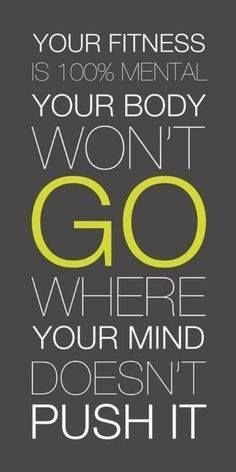Convince your #mind and the #body will follow!