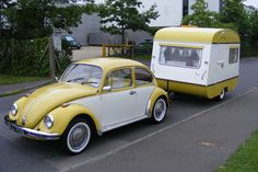 For Michele! VW Beetle with color matching trailer!