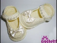 How to Crochet Baby Shoes ((fr |