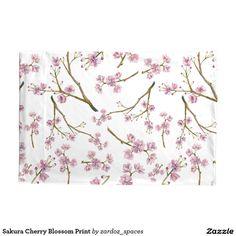 Sakura Cherry Blossom Print Pillowcase #sakura #cherryblossom #cherryblossoms #pattern #spring #summer #blossom  #pillowcase