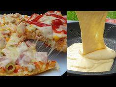 Pizza la Tigaie cu Aluat Turnat / Fara Drojdie si Gata in doar cateva minute Hawaiian Pizza, Pizza Recipes, Easy Cooking, Oven, Paste, Food And Drink, Felicia, Breakfast, Ethnic Recipes