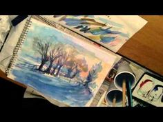 Winter Watercolor Demonstration. Loose watercolor lesson.