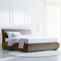 Portofino Upholstered Bed by Bontempi Casa - $5641 in one of two fabrics - YLiving