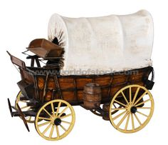 Conestoga Wagon | Covered Wagon Model Horse Wagon, Horse Drawn Wagon, Forte Apache, Wooden Wagon, Wood Toys Plans, Train Table, Covered Wagon, Westerns, Le Far West