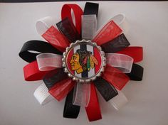 Chicago Blackhawks Loopy Hair Bow with by AshleyAnnBowtique, $7.00