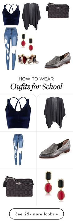 """""""HIGH SCHOOL STYLE"""" by mgarcia-iii on Polyvore featuring Miss Selfridge, Kate Spade, Kinross, 1st & Gorgeous by Carolee, Chloe + Isabel and Coach"""