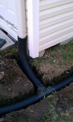 Connect flexible downspouts to run rain water away from your home's foundation…